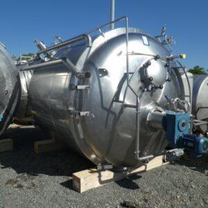 Reaktor 12000 liter i rostfritt 304