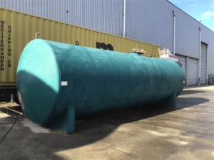 40000 liter tank i stål (dubbelmantlad)